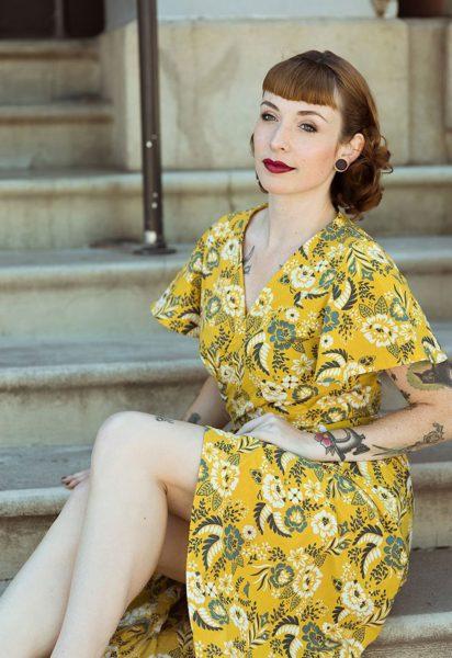 Robe cache-cœur CharliAnne - Sew to Grow