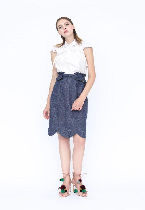 Kimono froncé manches courtes 505 - DP Studio