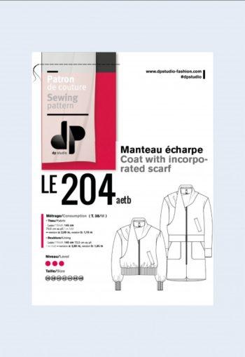Manteau écharpe 204 - DP Studio