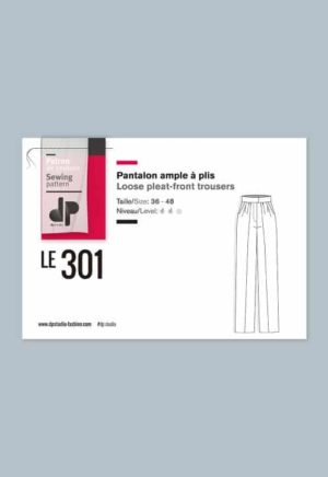 Pantalon large à bretelles 307 - DP Studio