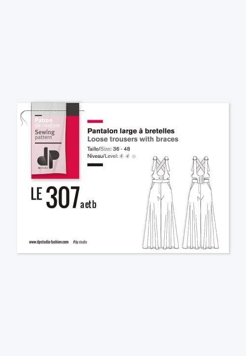 Pantalon large à bretelles 307 - DP Studio