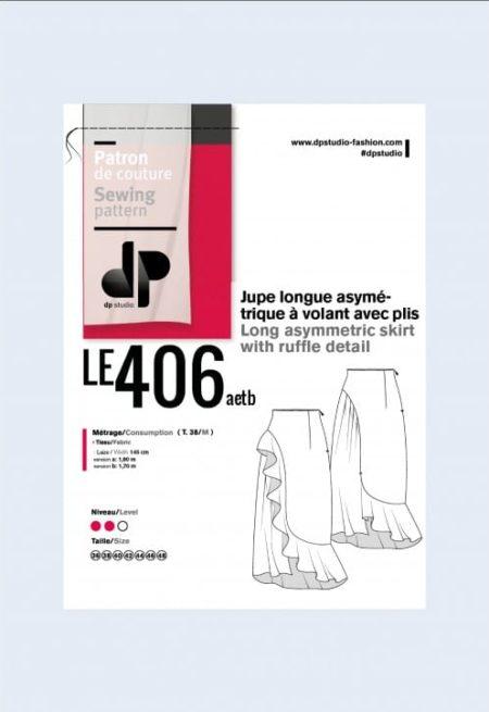 Jupe longue asymétrique 406 - DP Studio