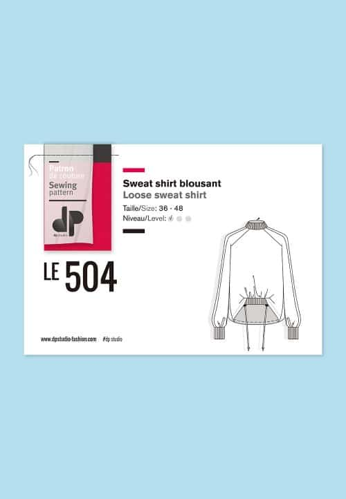 Sweat shirt blousant 504 - DP Studio