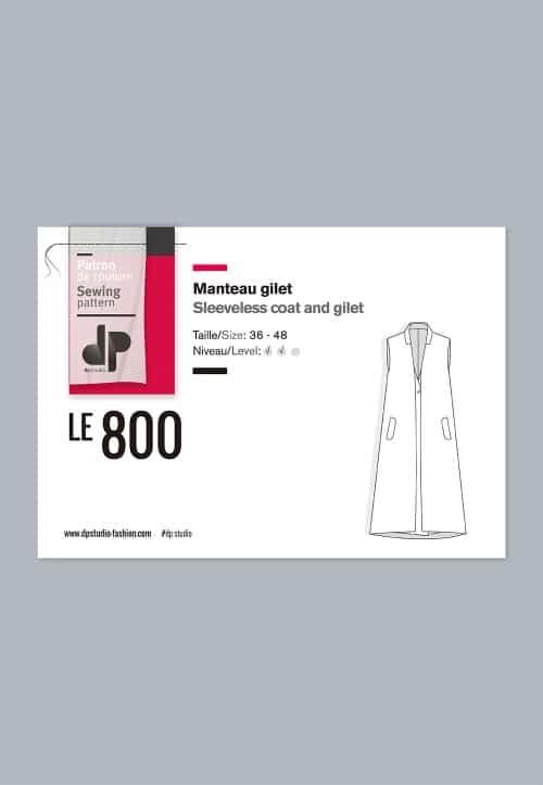 Manteau gilet 800 - DP Studio