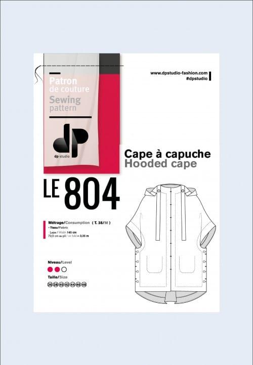 Cape à capuche 804 - DP Studio