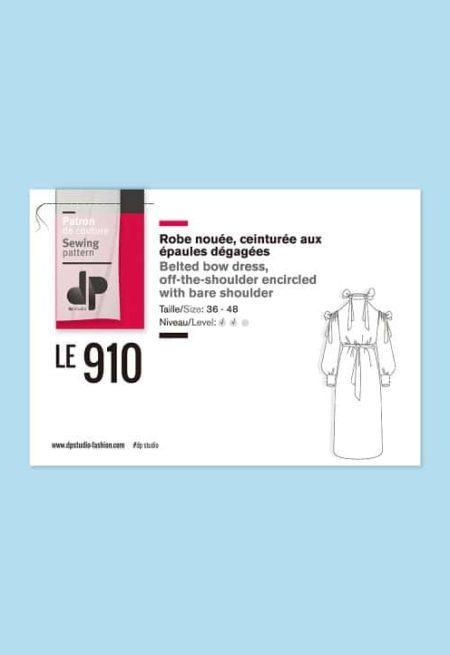 Robe nouée ceinturée à épaules dénudées 910 - DP Studio
