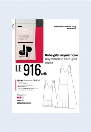 Robe gilet asymétrique 916 - DP Studio