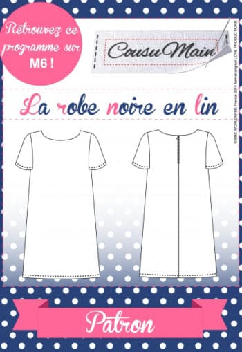 Robe noire Cousu Main - Made in me Couture
