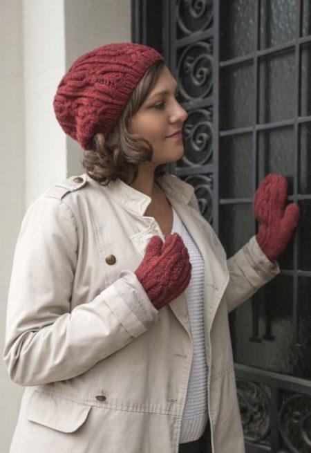 Ensemble bonnet et moufles Genève - L'Échappée Laine