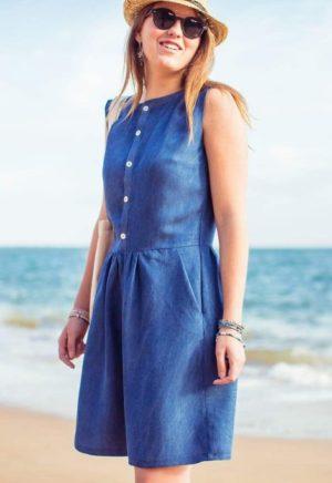 Patron Couture Robe Belle Ile - Anne Kerdilés