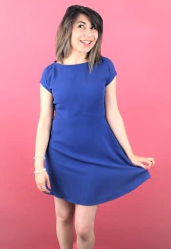 Patron Couture Robe Alina Bleu