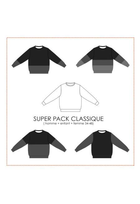 Oh My Pattern - patron Sweat Andrea SUPER PACK Classique - Petit Patron