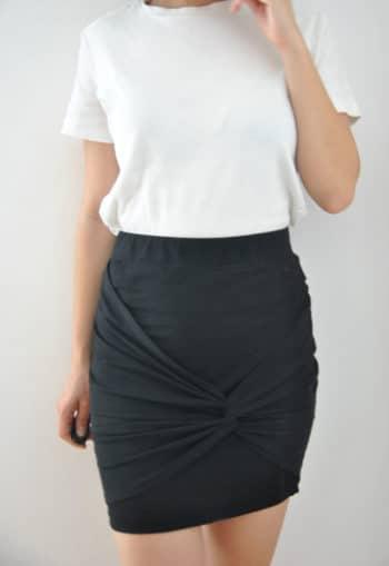patron de couture Jupe torsadée Slinky - Kommatia Patterns
