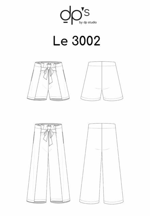 Oh My Pattern - patron couture Short / Pantalon 3002 - DP Studio