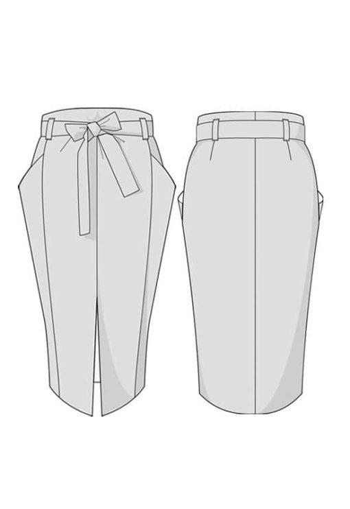 Oh my pattern - patron de couture Jupe Berlin - Orageuse