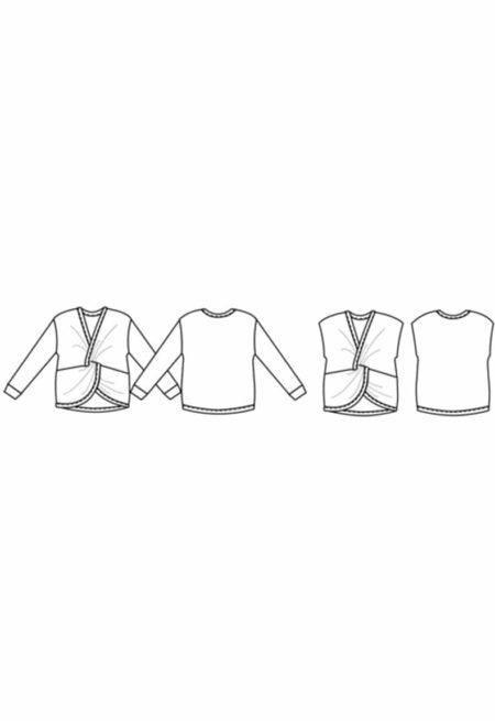 Oh My Pattern - patron top twist Aomori - Papercut Patterns