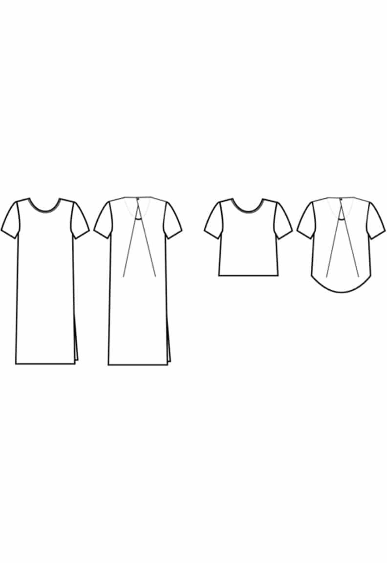 Oh My Pattern - patron couture Robe Top Kobe - Papercut Patterns