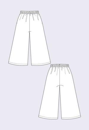 patron de couture Pantacourt Ninni - Named Clothing