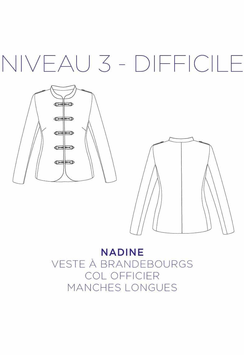 Patron couture Veste Nadine - C'est Moi le Patron