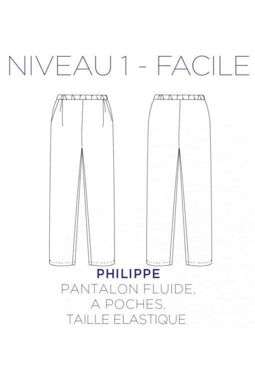 Patron Couture Pantalon Philippe - C'est Moi le Patron