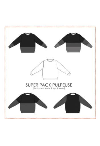 Oh My Pattern - patron Sweat Andrea SUPER PACK Pulpeuse - Petit Patron