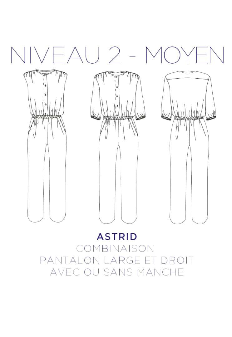 Patron couture Combinaison Astrid - C'est Moi le Patron par Coralie Bijasson