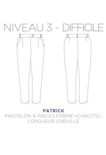 Patron couture - Pantalon Patrick- C'est Moi le Patron par Coralie Bijasson