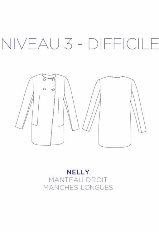 Patron couture Manteau Nelly - C'est Moi le Patron par Coralie Bijasson