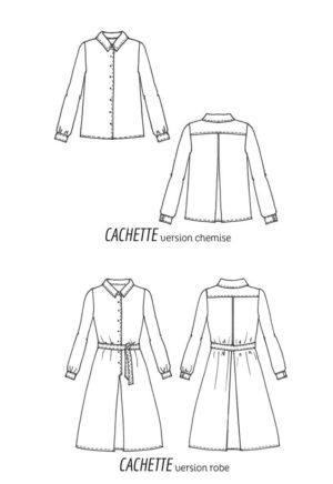 Patron de couture Robe Cachette - Cousette