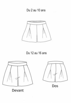 Patron de couture Short Mouffetard enfant - A&A patron