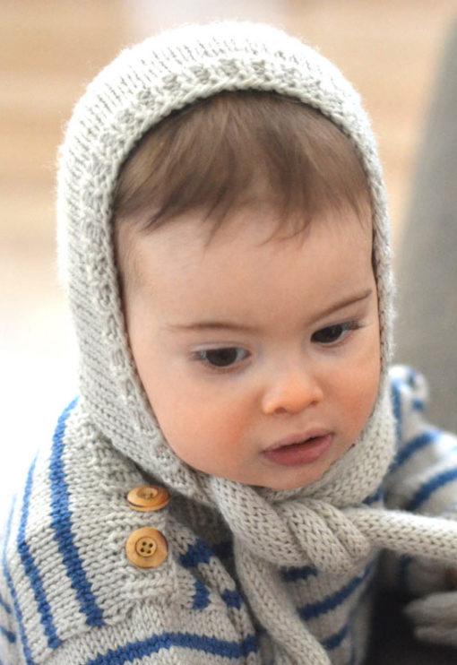 Patron tricot Béguin Gaspard bébé - A&A Patrons