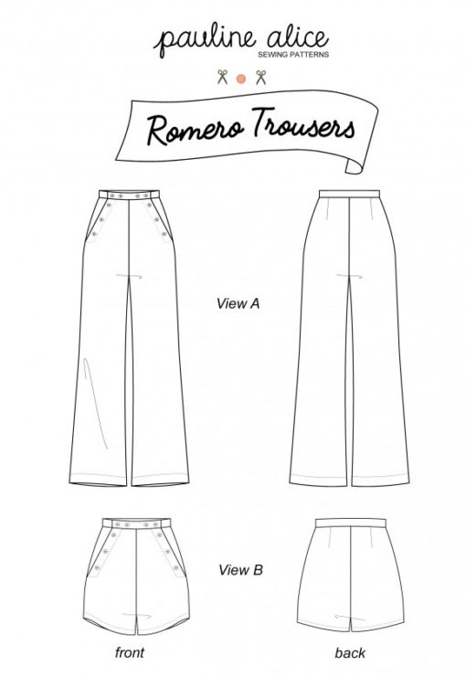 Patron pochette Pantalon Romero - Pauline Alice