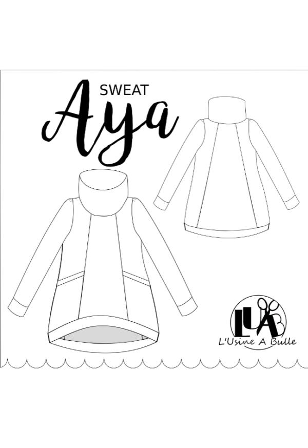 Patron couture Sweat Aya - L'Usine à Bulle