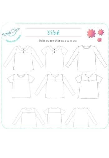 Patron Tee-shirt Siloé - Petits d'Om