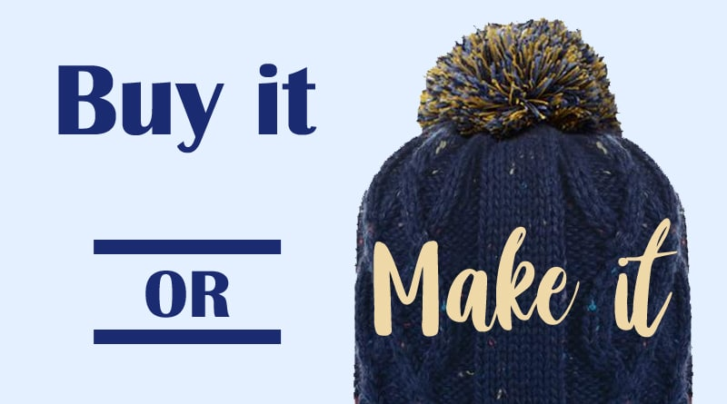 Buy it or Make it : Le bonnet à pompon