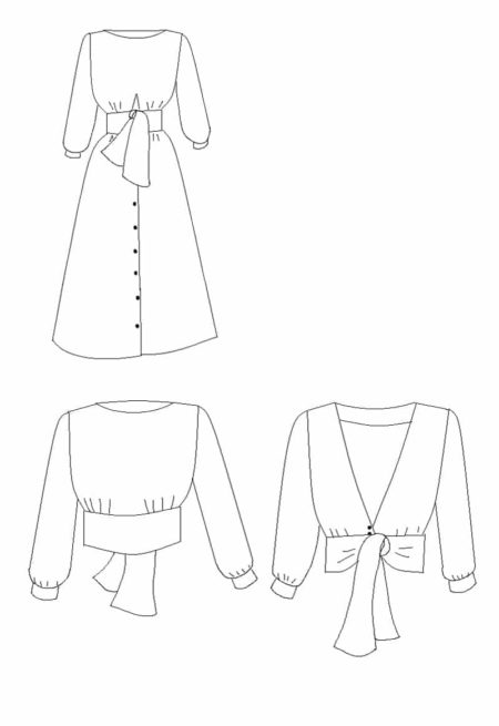 PatronRobe /blouse Sierra - Maison Fauve