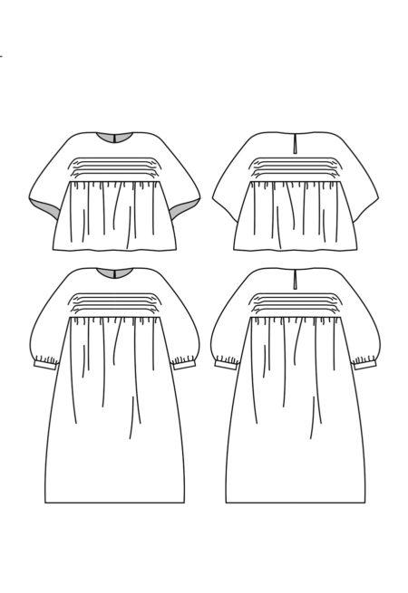 Patron Robe blouse Nekkar - Plumti Lab