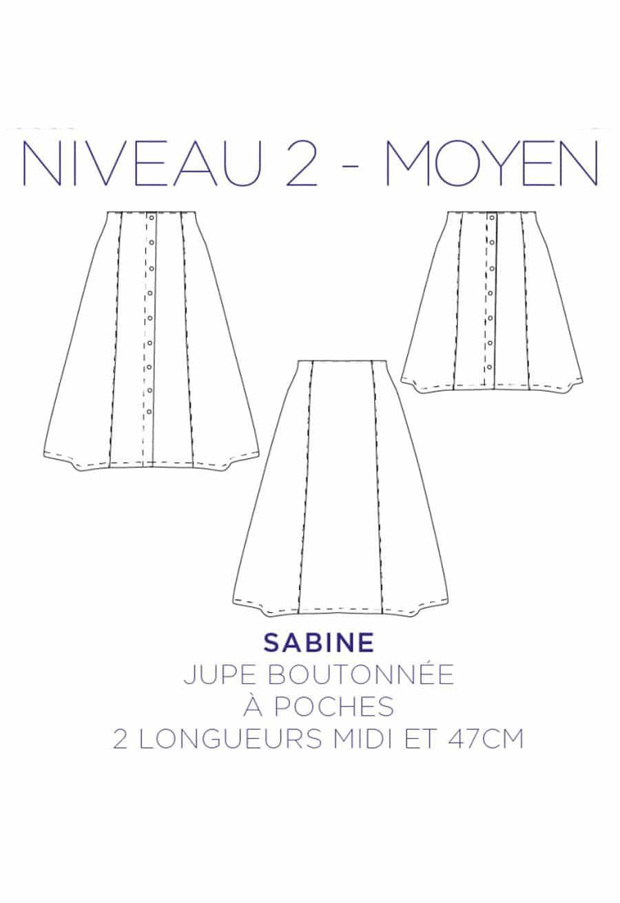Patron couture Jupe Sabine - C'est Moi le Patron
