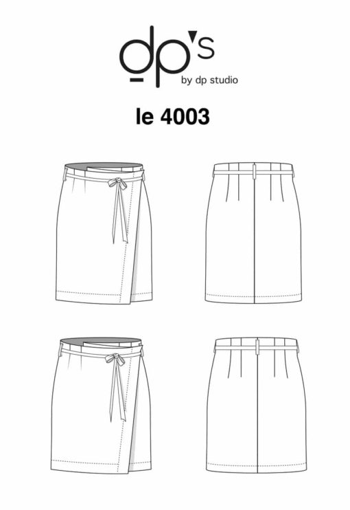 Patron de couture Jupe portefeuille 4004 - DP Studio
