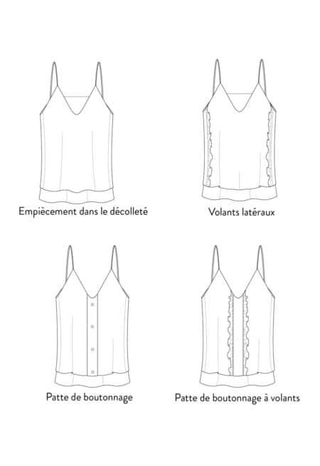 Patron couture Top Klimt - Les Patronnes