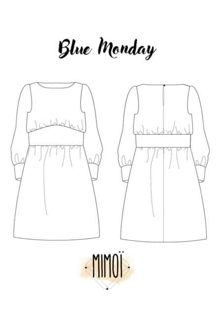 Patron Robe Blue Monday - Mimoi