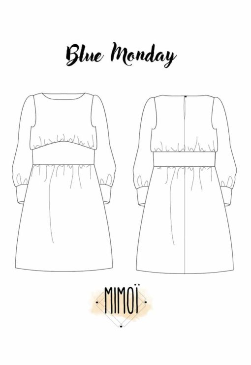 Patron Robe Blue Monday - Mimoi