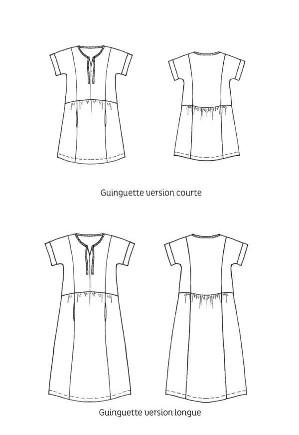 Patron de couture Robe Guinguette - Cousette
