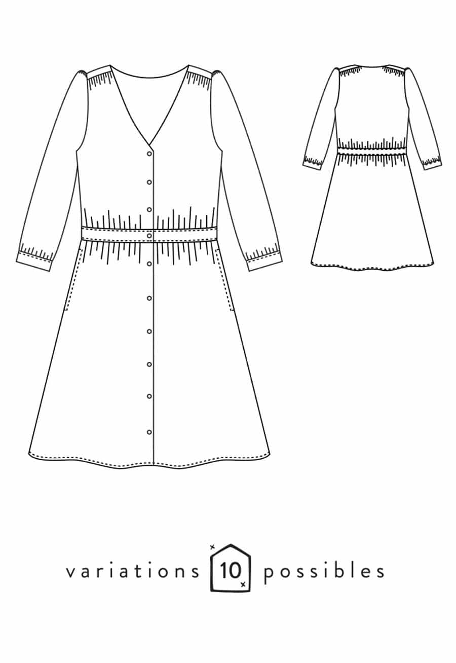 Patron couture Robe Harmonie | Couture femme | Oh My Pattern