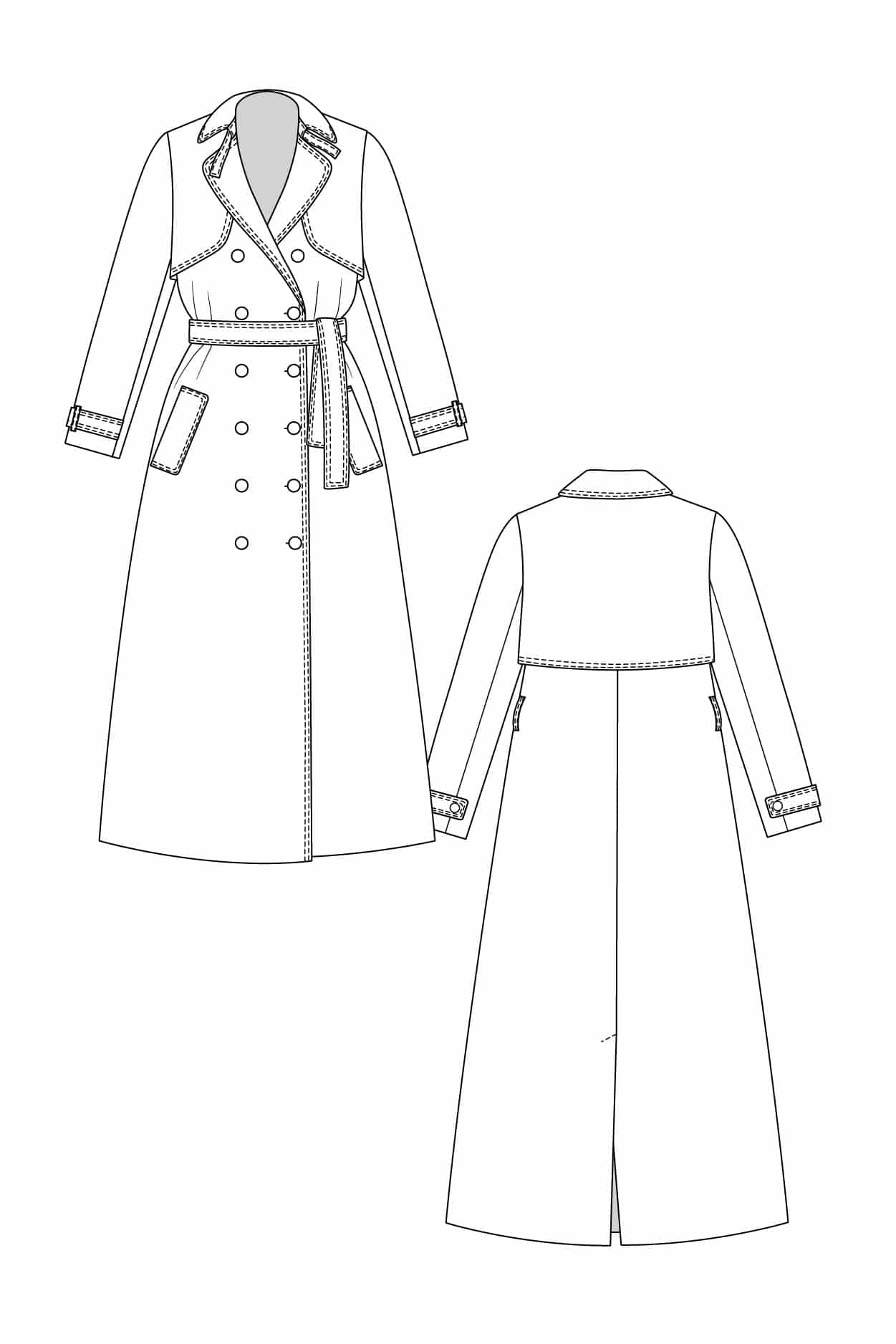 Patron Trench Isla - Named Clothing