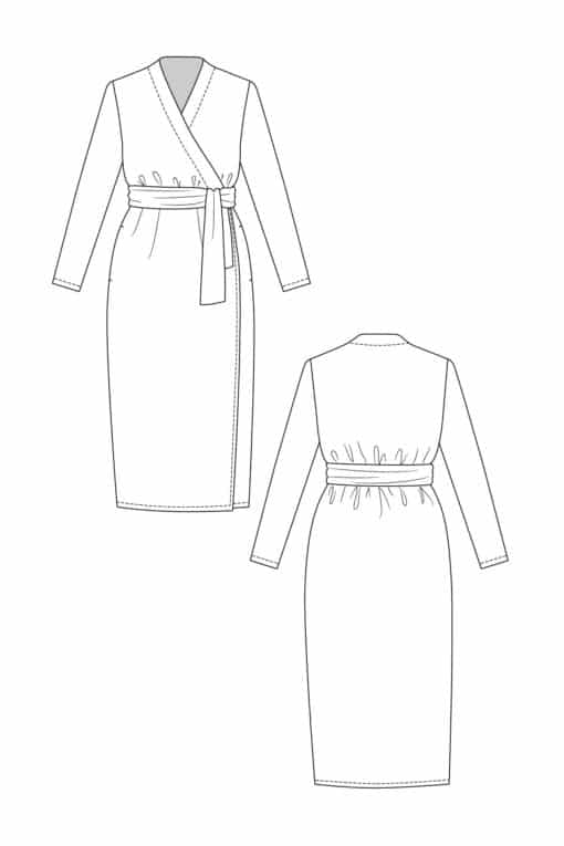 Patron Robe Portefeuille Olivia - Named Clothing