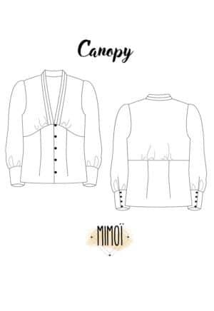 Patron Blouse Canopy - Mimoi