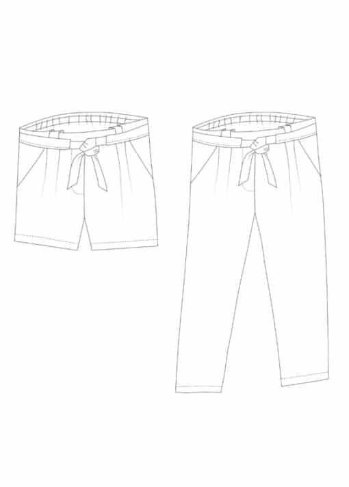 Pantalon ou Short Aura - Rose des Vents